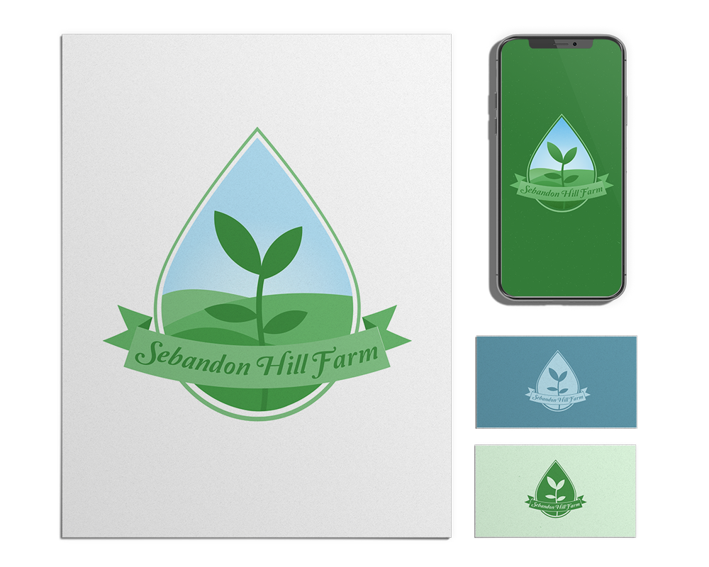 Full-Color Hydroponic Farm Logo